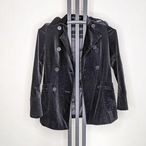 Theory Velvet Black Jacket Small